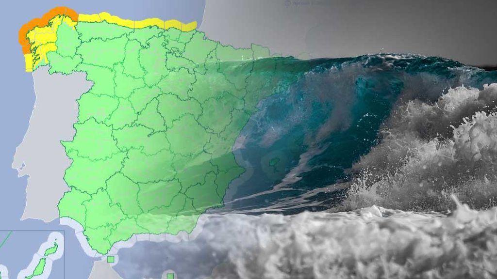 Cuidado con el mar: hay 7 avisos en el norte por olas de 6 metros el fin de semana