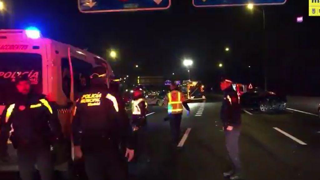 Muere un joven de 20 años en un accidente de tráfico en la M30 de Madrid
