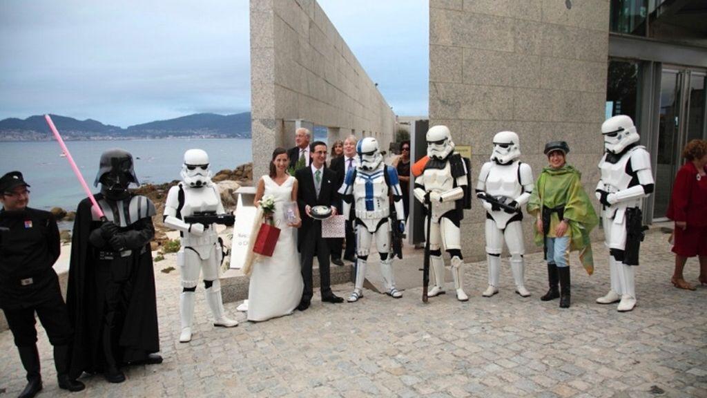 Lo de esta pareja sí que es amor por Star Wars...