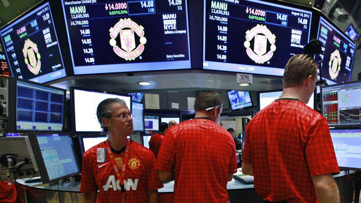 Las acciones del Manchester United en la Bolsa de Nueva York se disparan cerca de un 4%