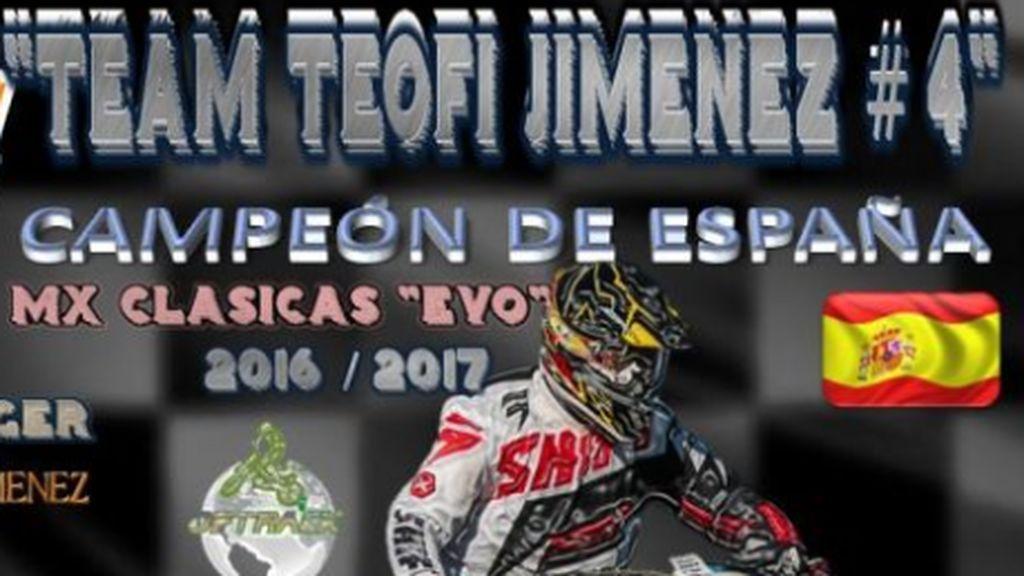 Teófilo Jiménez, el novio de Laura Luelmo, un brillante piloto de motorcross al que todos apoyan hoy