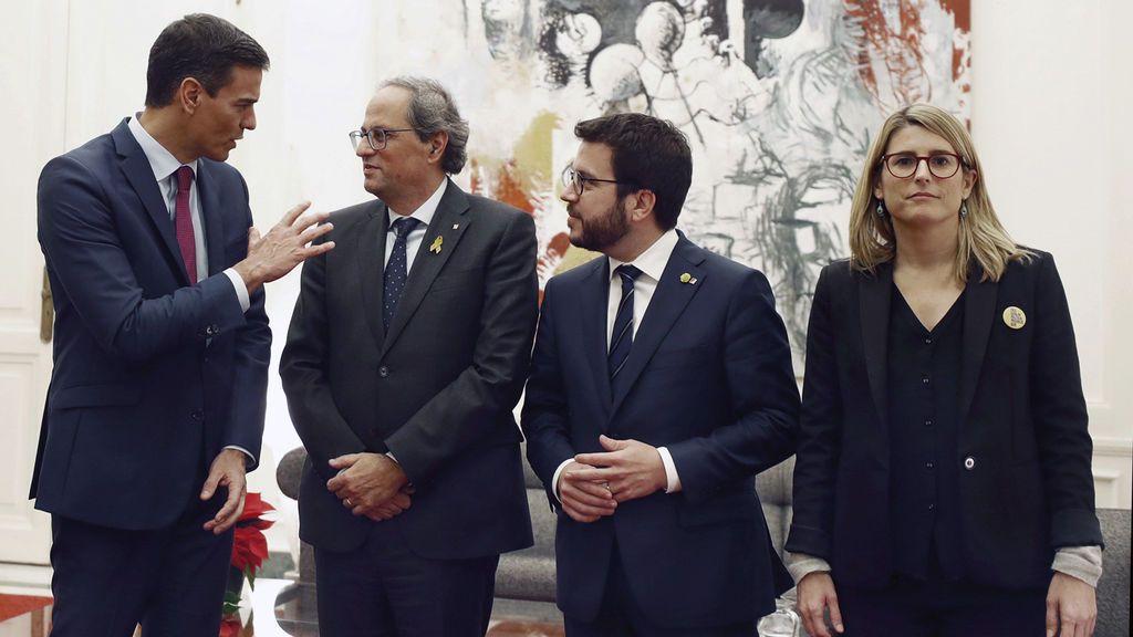 Minicumbre en Pedralbes: poco más de una hora de reunión y ni una palabra sobre los Presupuestos