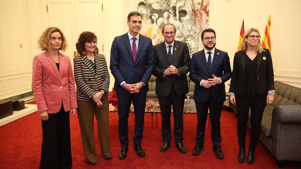 Reunión Sánchez-Torra en Pedralbes