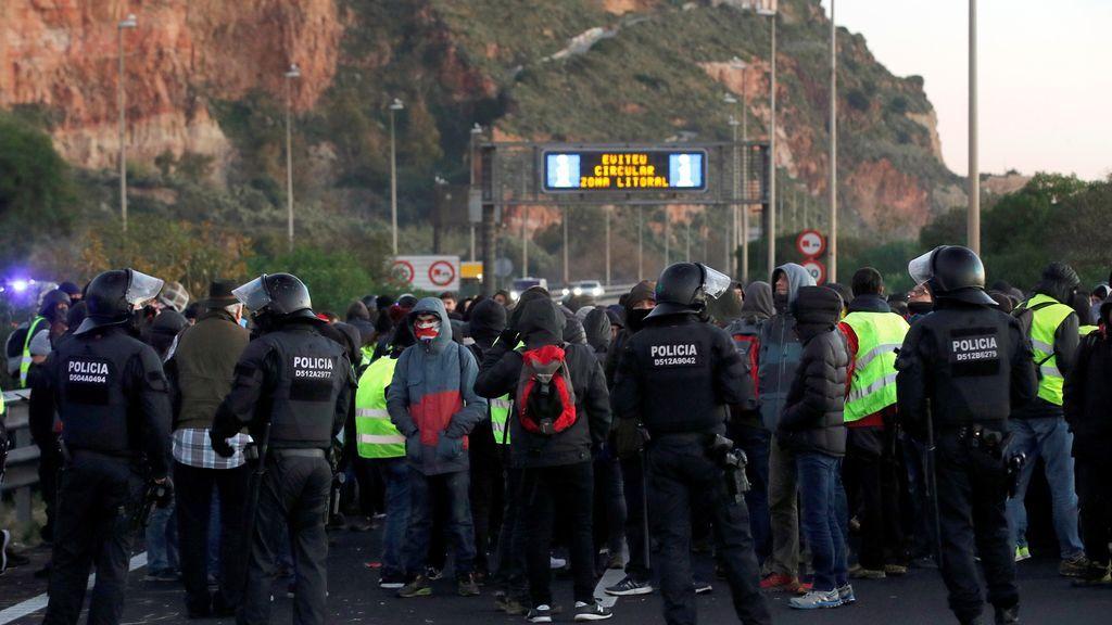 cdr cortes de carreteras en Cataluña