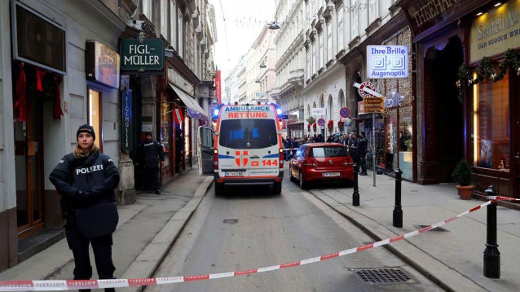 Tiroteo en un restaurante en Viena: Un muerto y un herido
