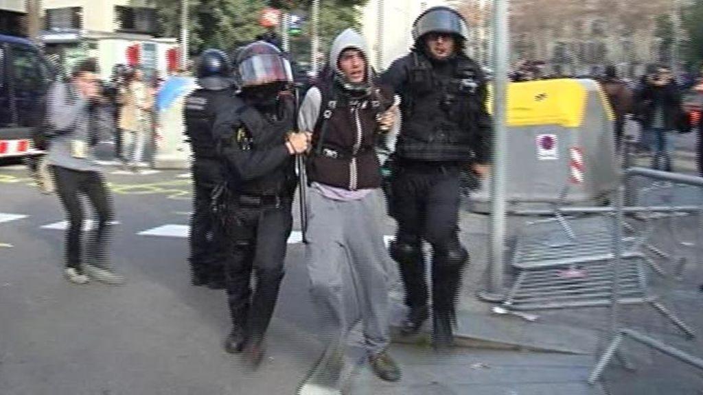 Siete detenidos en los disturbios del 21D