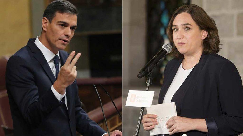 Sánchez y Colau se reúnen en el hotel del presidente