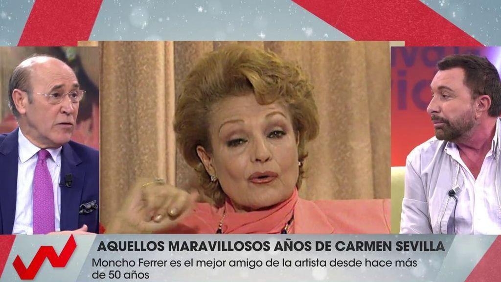 "Parada reprocha los halagos de Moncho a Carmen Sevilla: ""No era tan buena"""