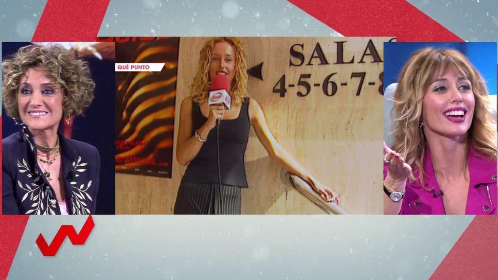 La primera vez de Emma García en Telecinco no fue en 'A tu lado': fue en '¡Qué punto!' con Ana García Lozano