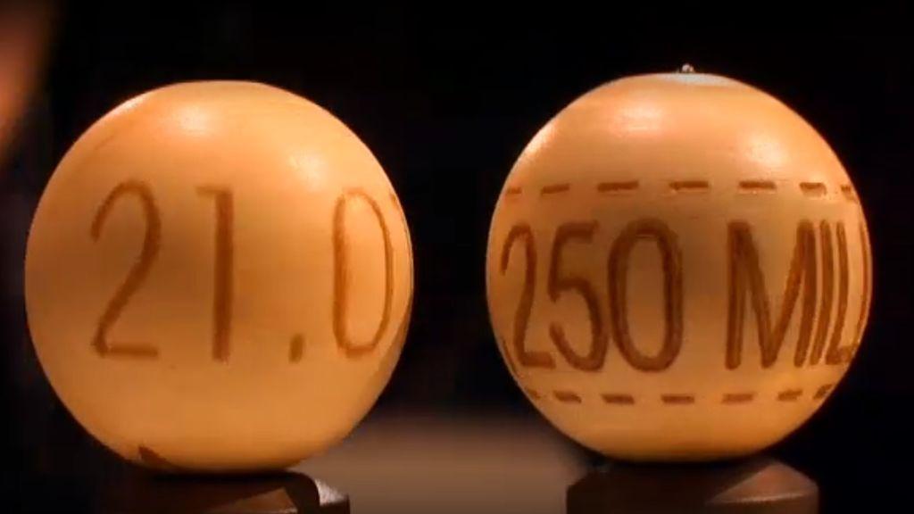 21015, el número que lleva el segundo premio de la Lotería de Navidad