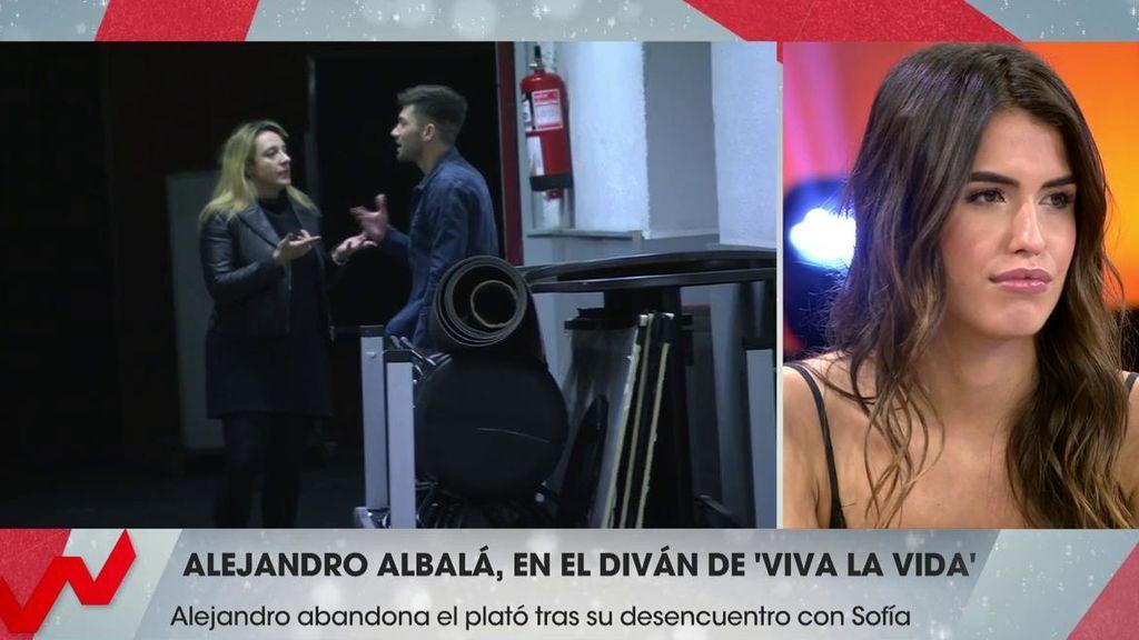 Albalá abandona el plató dolido tras un enfrentamiento con Sofía