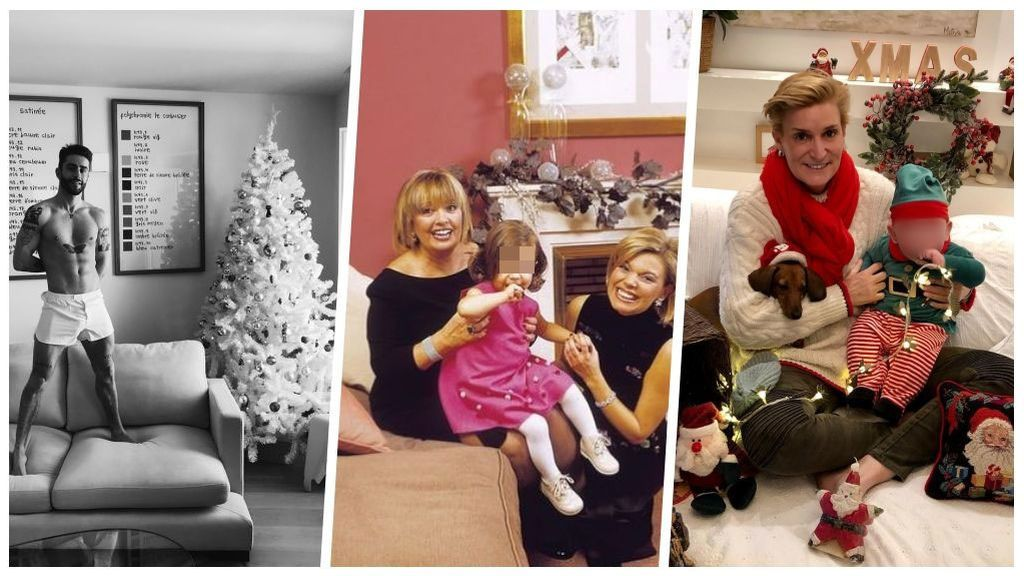 Despelotados,  tirando de archivo o en familia: así nos felicitan la Navidad los famosos