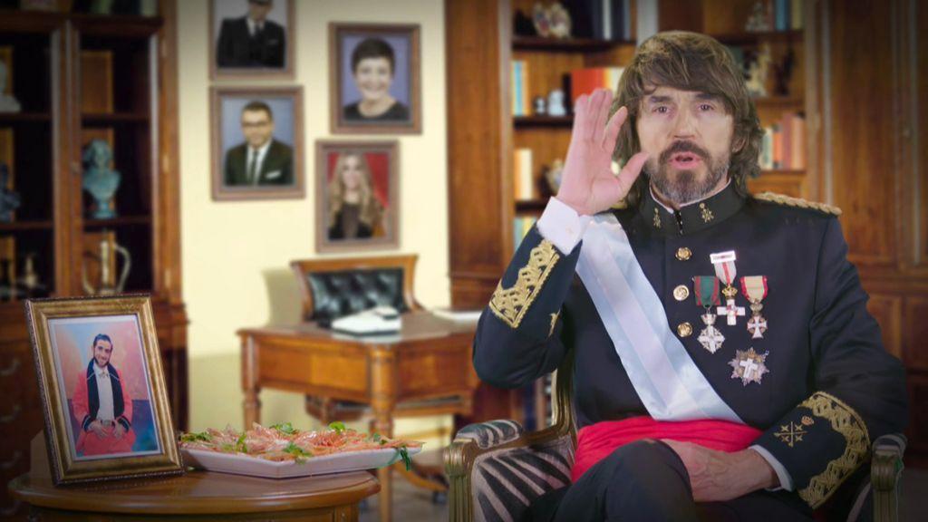 """El discurso del 'Rey Santi Millán': """"Feliz Navidad, Próspero Año Nuevo y ¡cuidado con la digestión!"""""""