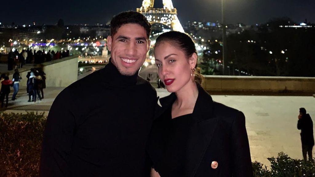 Derroche de amor entre París y Dortmund: Hiba Abouk y Achraf celebran sus primeras navidades juntos