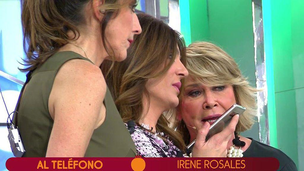 La primera llamada de Irene Rosales a 'Sálvame', completa