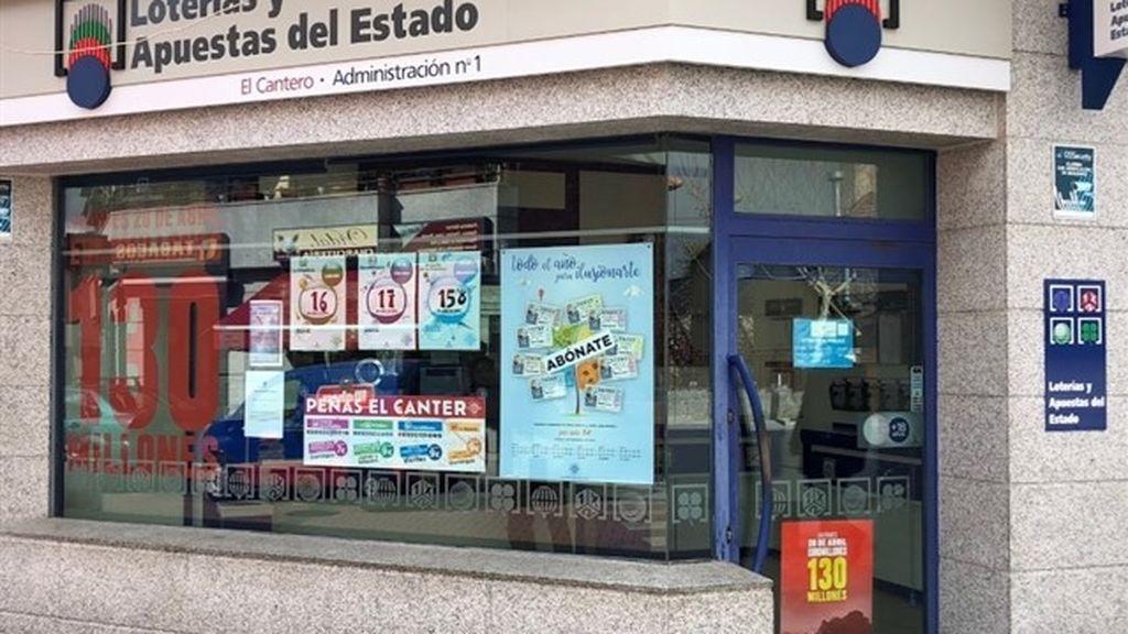 Roban 400.000 euros de una administración de lotería que vendió un décimo de 'El Gordo'