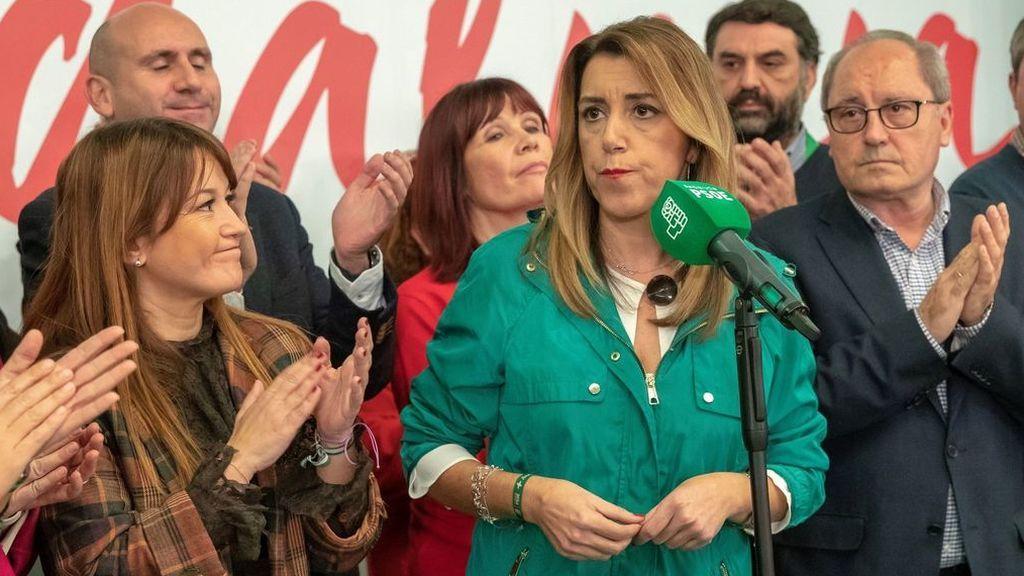 Batacazo electoral del PSOE en Andalucía tras 36 años de Gobierno en la Junta