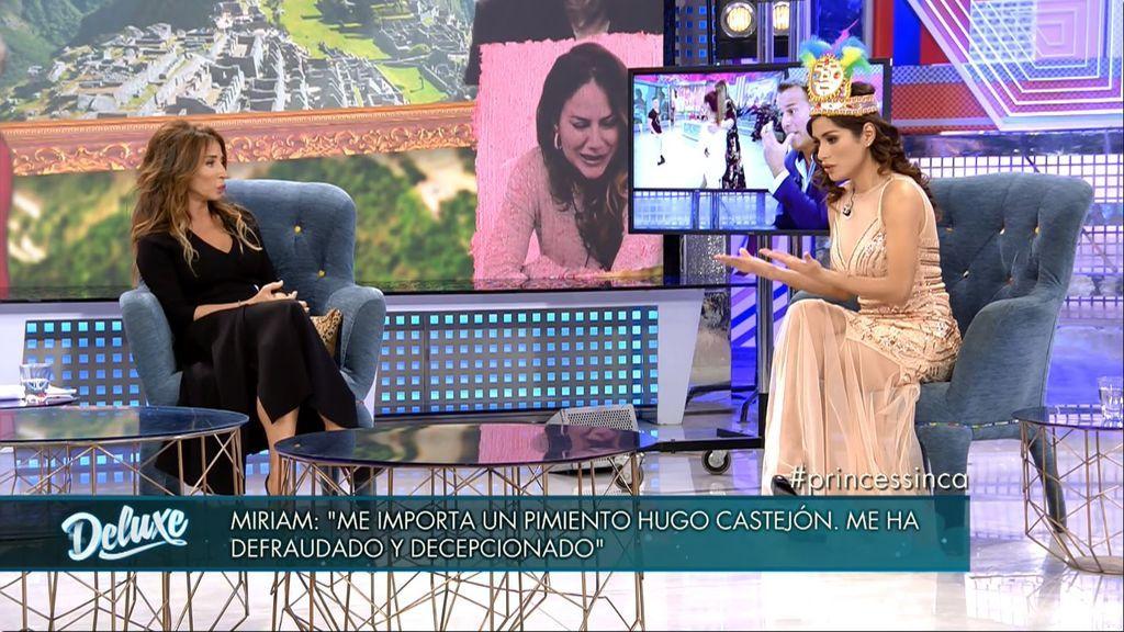 Miriam confirma por primera vez que estuvo al mismo tiempo con Hugo y Carlos
