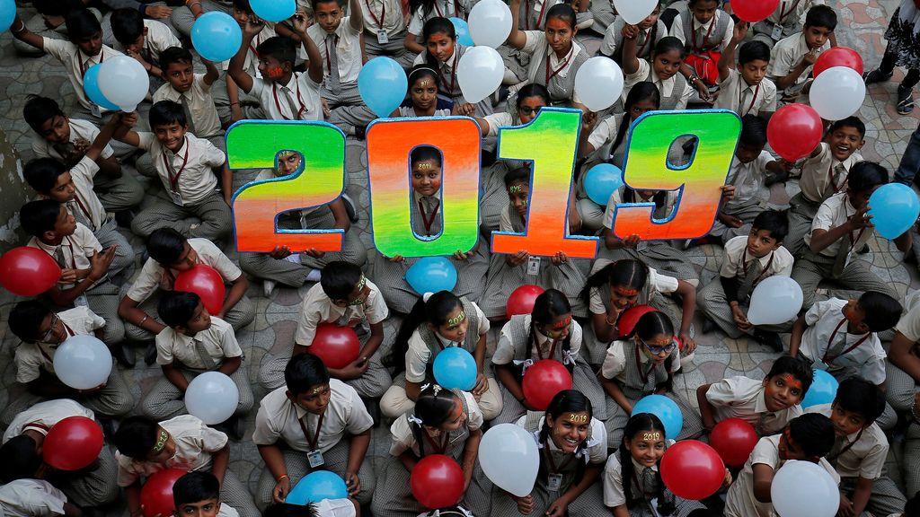 La bienvenida del nuevo año 2019 en todo el mundo