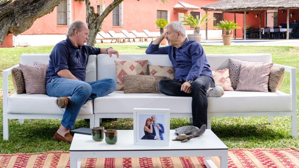 Bertín Osborne entrevista a Carlos Sobera, en 'Mi casa es la tuya'.
