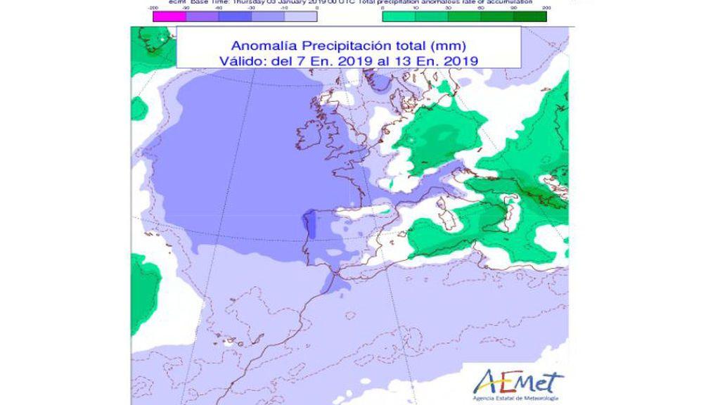 anomalia precipitacion semana q viene
