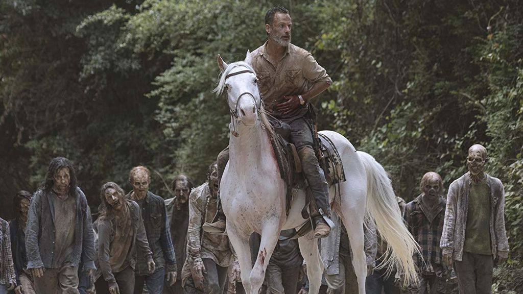 Rick Grimes (interpretado por Andrew Lincoln), en la novena temporada de 'The walking dead'.