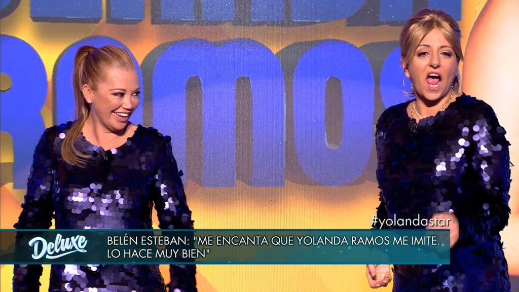 Yolanda Ramos muestra su perfecta imitación de Belén Esteban