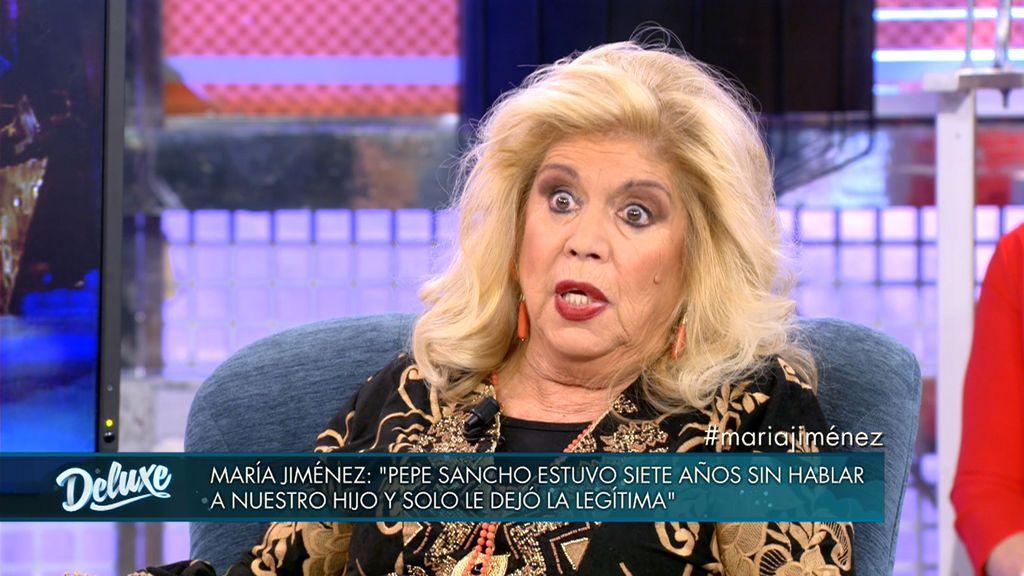 María Jiménez habla de la herencia de Pepe Sancho