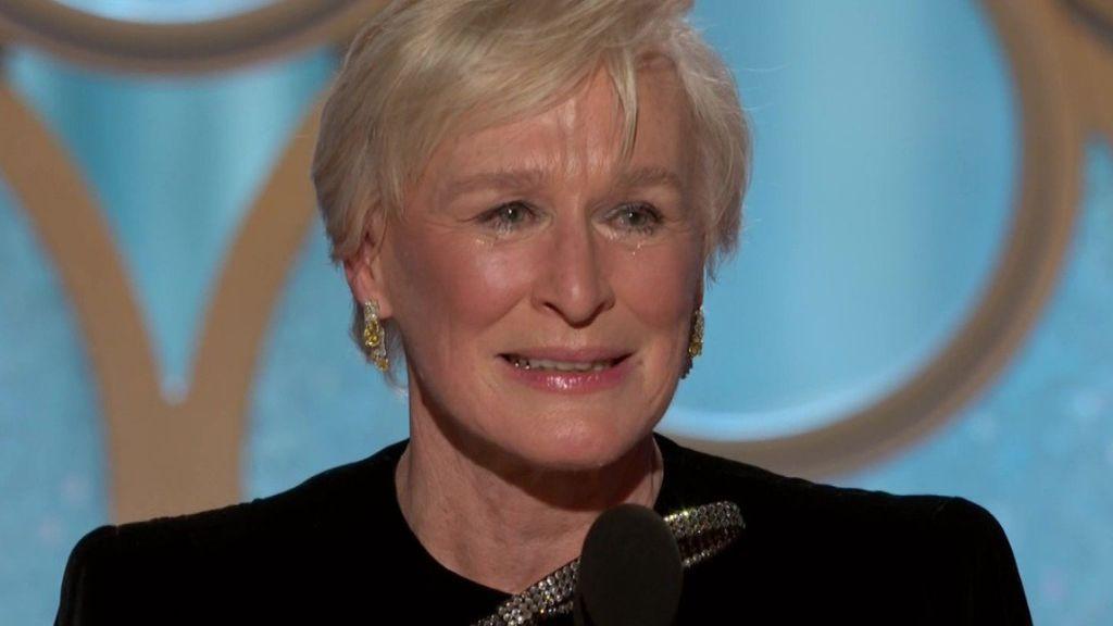 Glenn Close se derrumba al recoger el Globo de Oro con un discurso que ya es historia del feminismo