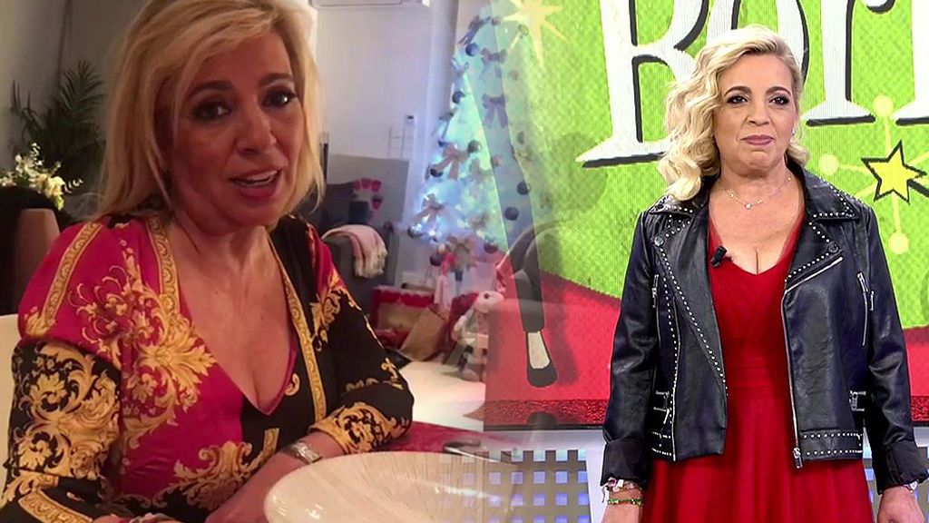Carmen Borrego sorprende de rojo pasión y con vídeos inéditos de sus cenas navideñas