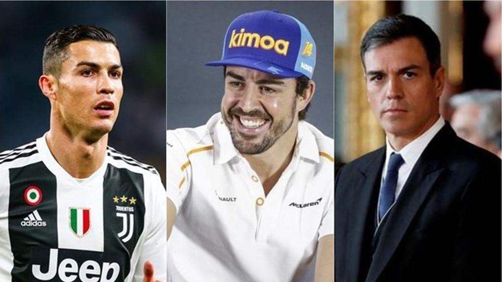El presidente del Gobierno, Cristiano Ronaldo, y Fernando Alonso entre los personajes del año