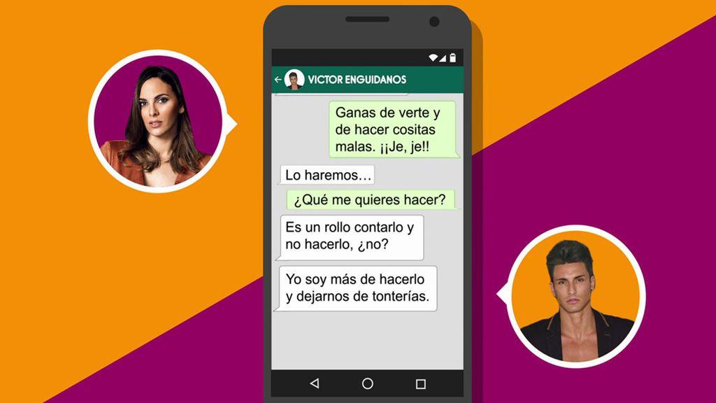 """Así ligaba Irene Rosales con Víctor, de MYH: """"Cuando vaya a Madrid, te voy a dejar KO"""""""