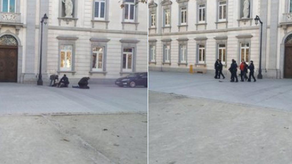 Detenidos ocho jóvenes vinculados a Arran por intentar pintar la fachada del Supremo