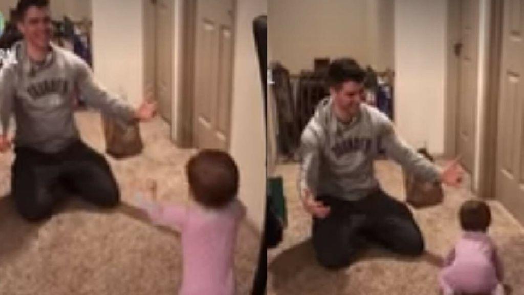 La bebé que se volvió viral por 'engañar' a su padre
