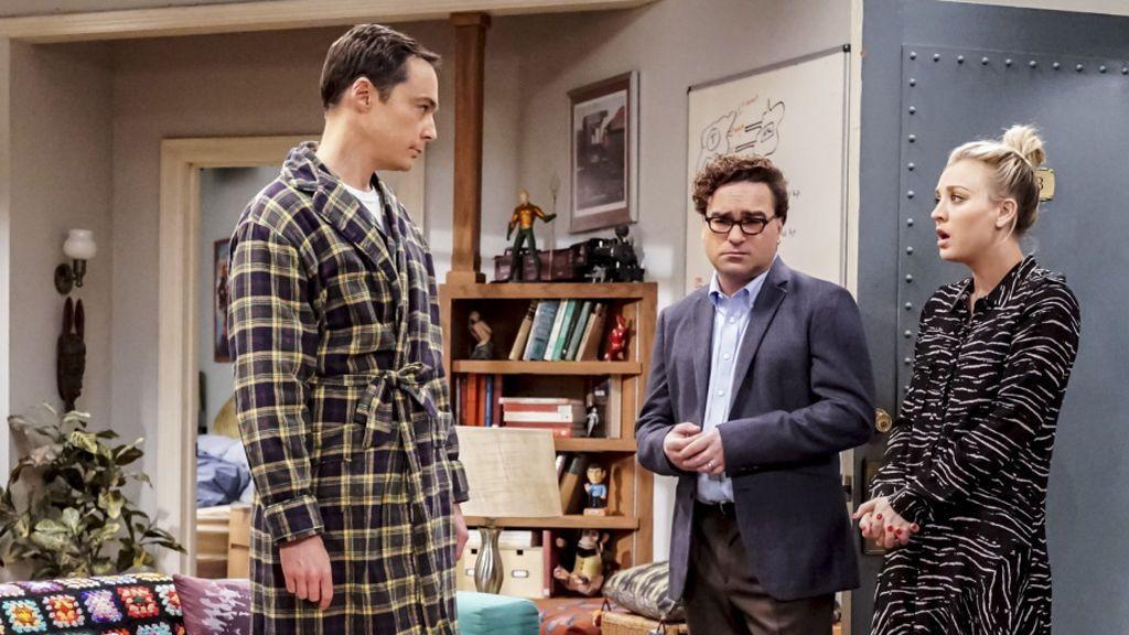 Protagonistas de 'The big bang theory', en la última temporada de la serie, la duodécima.
