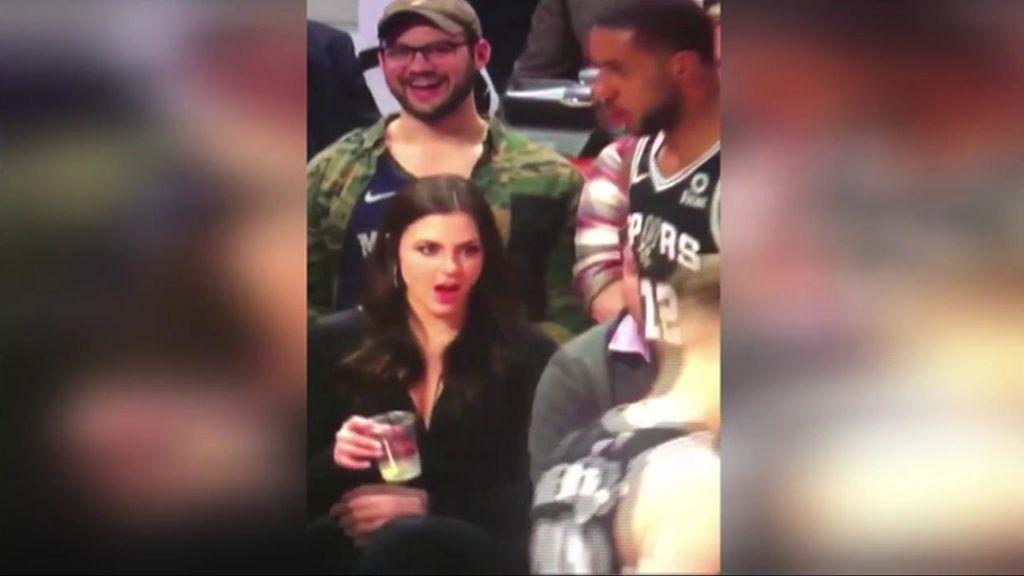 La curiosa reacción de una fan de los Spurs al tener cerca a un jugador se hace viral en las redes