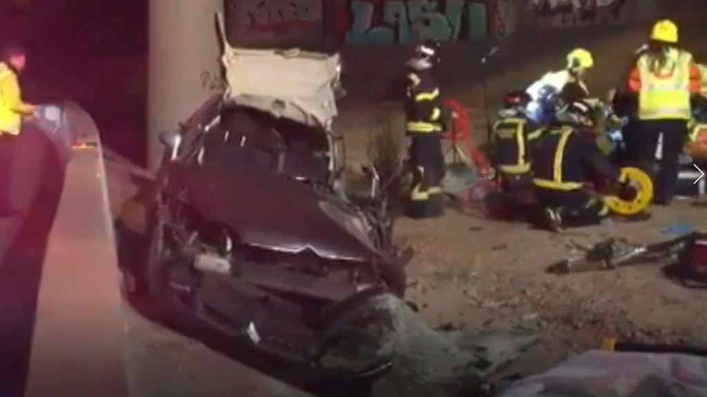 Localiza herido a un familiar desaparecido  tras un accidente de coche: siguió su itinerario por la M-40
