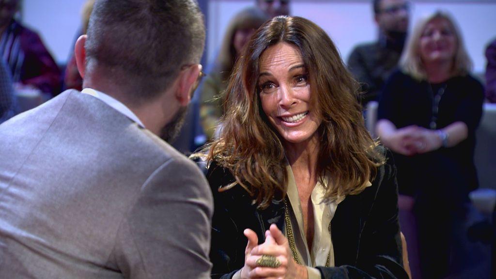 Lydia Bosch entrevistada por Risto Mejide en 'Chester'.