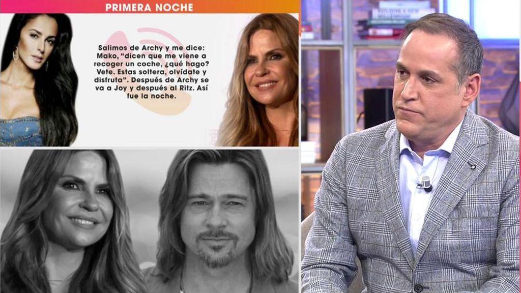Mónica Estarreado se suma al escándalo del posible romance entre Makoke y Brad Pitt