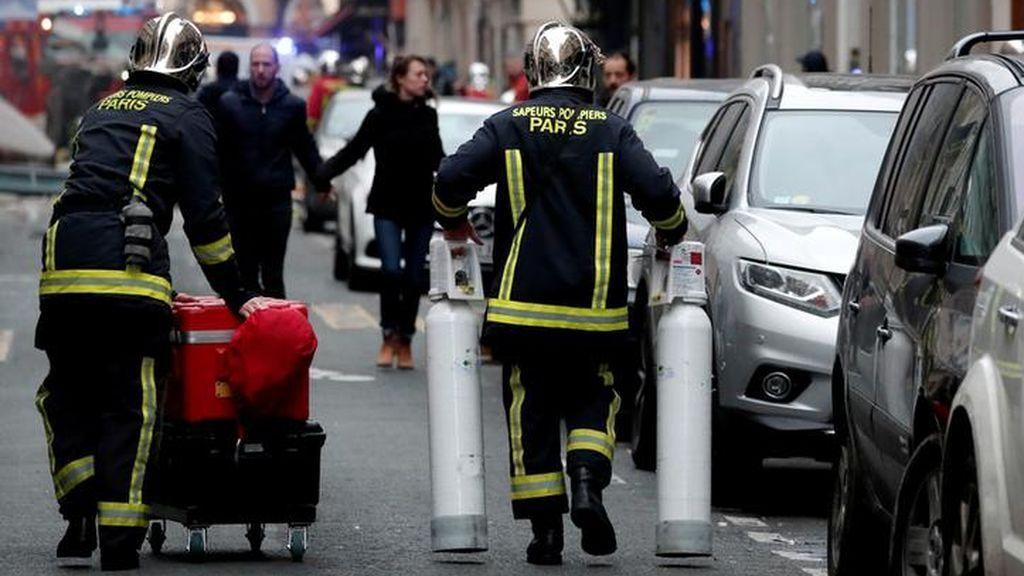 La explosión de la panadería de París en imágenes