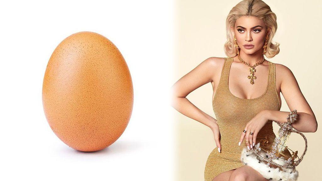 Un huevo le arrebata a Kylie Jenner el récord de likes en una foto de Instagram