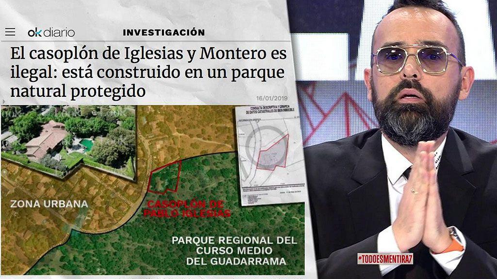 """'Todo es mentira' desmiente con pruebas la noticia de Ok Diario sobre la ilegalidad del """"casoplón de Pablo Iglesias e Irene Montero"""""""