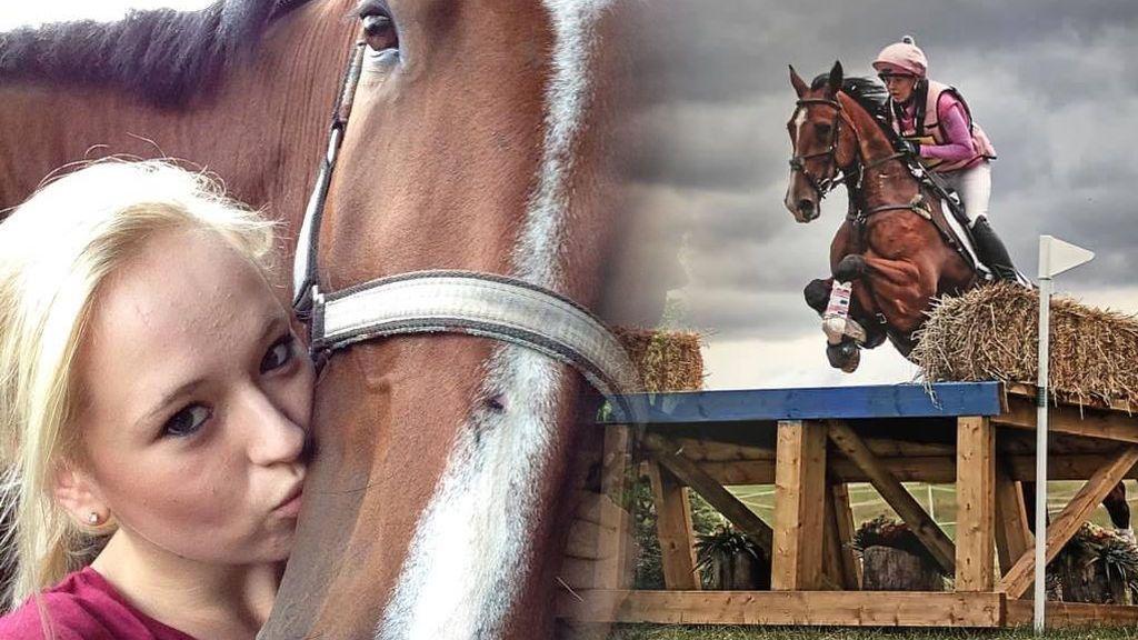 Conmoción por la muerte con 22 años de Natasha Galpin, joven promesa de la equitación, junto a su caballo