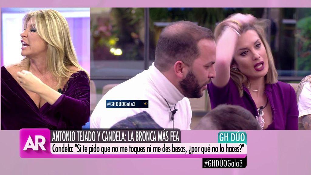 """Cristina Tárrega, sobre el comportamiento de Candela con Tejado: """"Si no quieres nada, no le busques"""""""