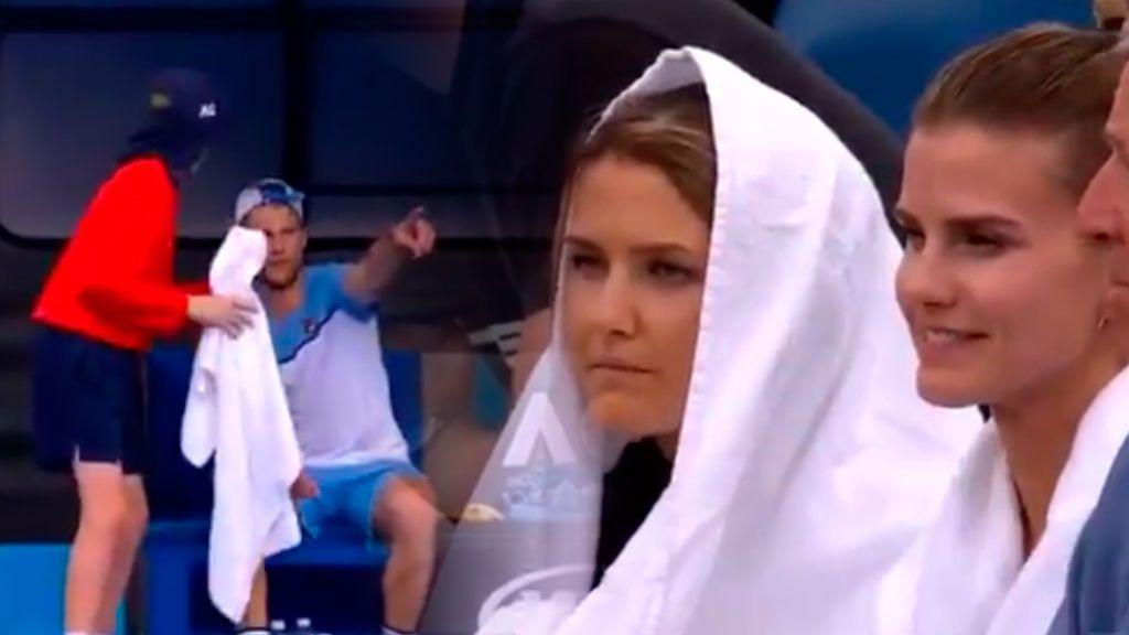 El gesto más romántico: Seppi envía a su mujer una toalla en plena lluvia durante su partido del Open de Australia