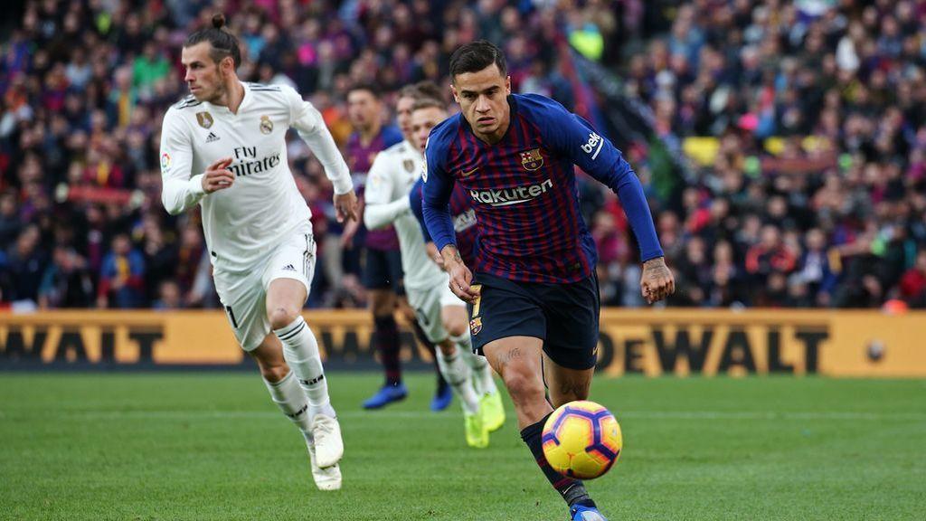 Bale y Coutinho, en el partido Barcelona - Real Madrid disputado el 28 de octubre de 2018.