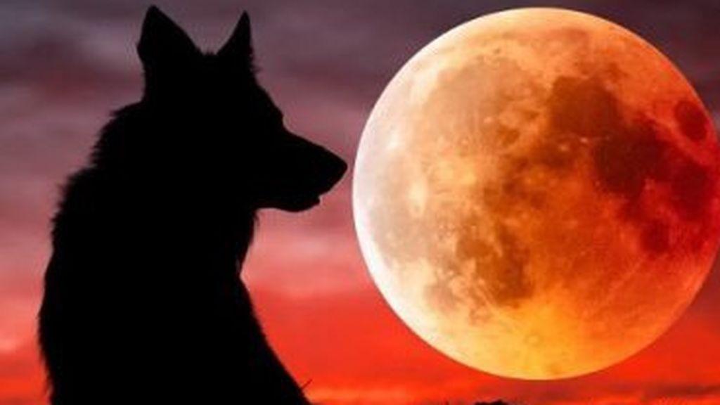 Eclipse y súper luna de sangre