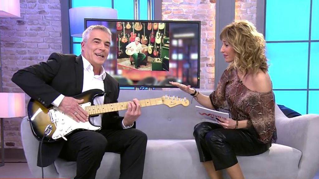"""David Cantero y su talento mejor guardado: """"No puedo vivir sin mi guitarra"""""""