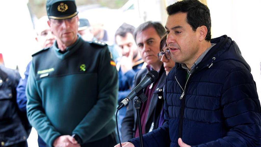 """Juanma Moreno subraya que """"las circunstancias no están ayudando"""" en las labores de rescate de Julen"""