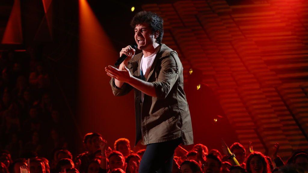 Miki interpretando 'La venda', en la gala especial de 'Operación triunfo' para Eurovisión 2019.